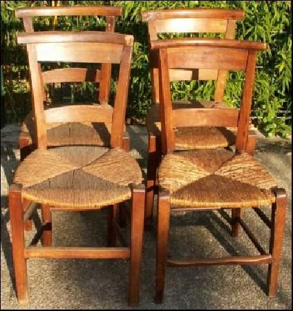 chaises paillées par votre artisan rempailleur