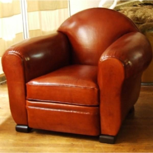 Refection d'un canapé ancien en cuir par votre artisan de Lyon et Rhone