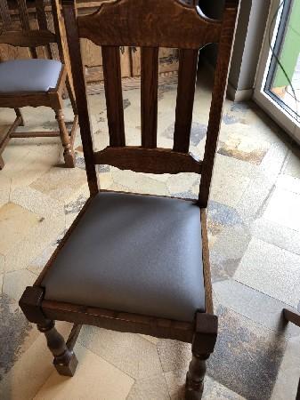 Atelier de Tapissier Beckert : Refection d'une chaise bois et assise en cuir